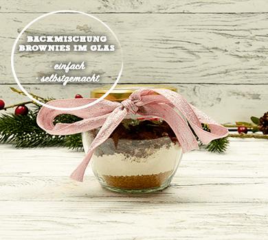 Backmischung Brownies im Glas