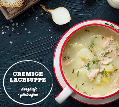 Cremige Lachssuppe