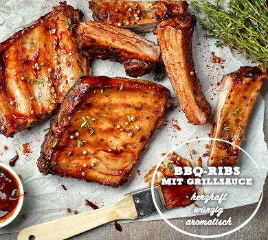 BBQ-Ribs mit Grillsauce