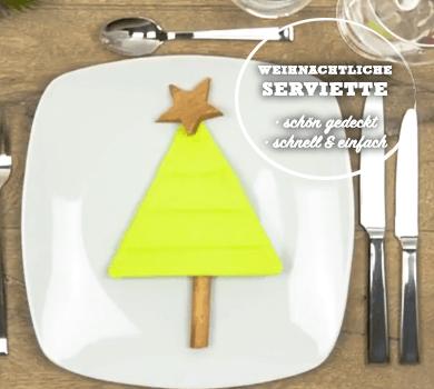 Weihnachtliche Serviette DIY