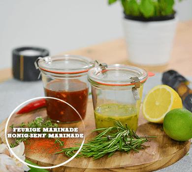 Grill-Marinaden: Feurig und Honig-Senf
