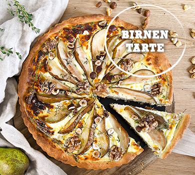 Birnen-Tarte mit Nüssen