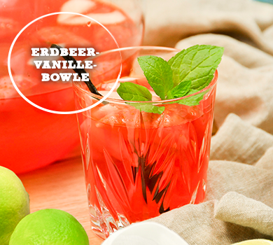 Erdbeer-Vanille-Bowle