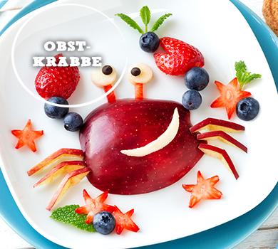 Obst-Krabbe für Kinder
