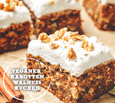 veganer Karotten Walnuss Kuchen